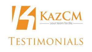 KazCM Testimonials