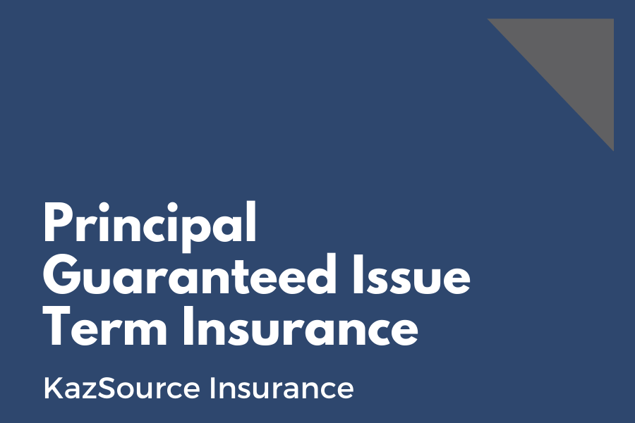 Principal Guaranteed Issue Term Insurance | KazSource Insurance